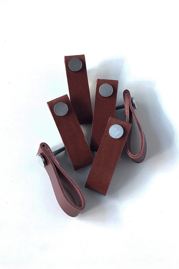 Interior accessories leather handle